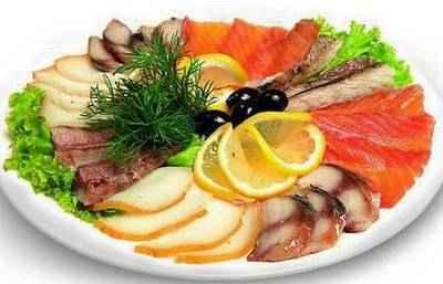 Ресторанная рыбная нарезка