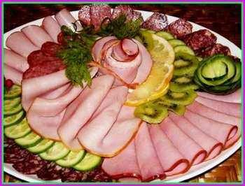 Пошаговая нарезка колбасы 47