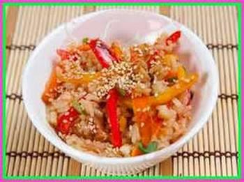 Рис с овощами по китайски
