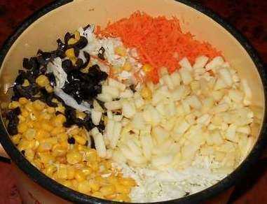 Ингредиенты салата с капустой