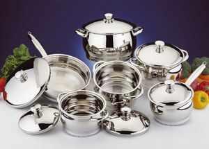 Кухонная посуда из нержавеющей стали
