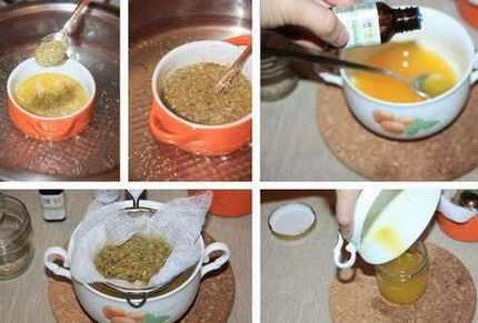 процесс приготовления мази