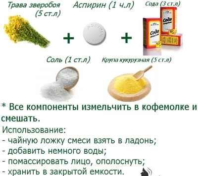 Рецепт от пятен на коже